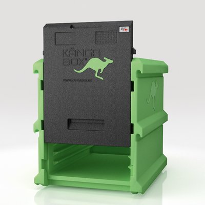 Thermobox Frontlader 128 Liter - Kängabox Tower 60x40 Thermobehälter aus EPP